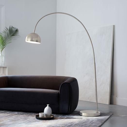 Overarching Metal Shade Floor Lamp, Nickel