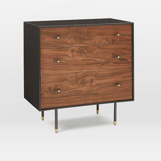 20 west elm boerum dresser modernist wood lacquer 3 drawer