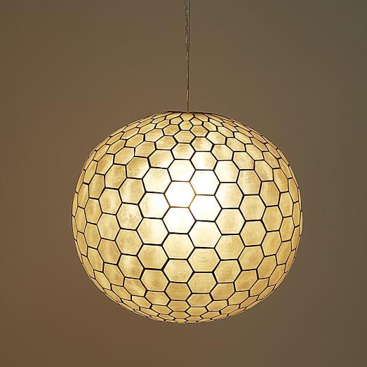 capiz orb pendants west elm. Black Bedroom Furniture Sets. Home Design Ideas