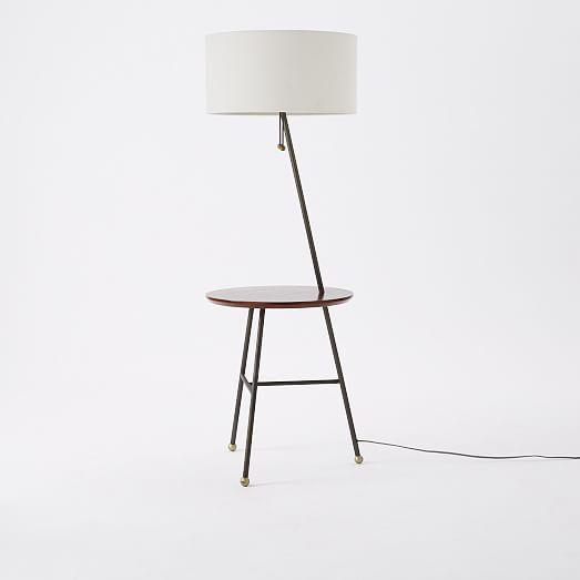 Standing Lamp With Table: Alternate Image · Alternate Image,Lighting