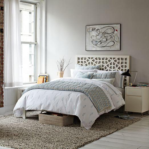 Morocco bed white west elm for Bedroom inspiration west elm