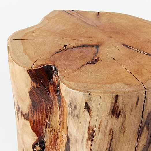 Natural tree stump side table west elm