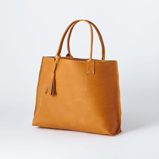 Bubo Handmade - Everyday Leather Tote Bag | west elm