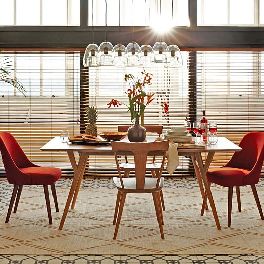 MidCentury Expandable Dining Table – Mid Century Dining Room Table