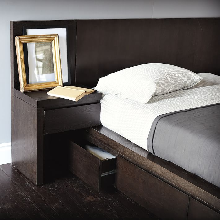 storage platform bed collection chocolate west elm