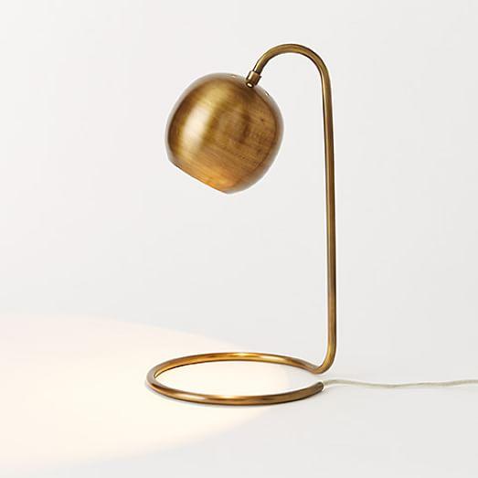 scoop table lamp west elm. Black Bedroom Furniture Sets. Home Design Ideas
