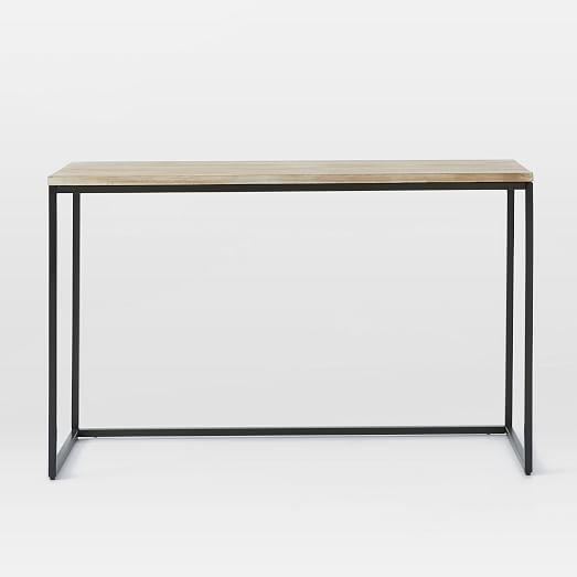 Box Console Table ~ Box frame console table wood antique bronze west elm