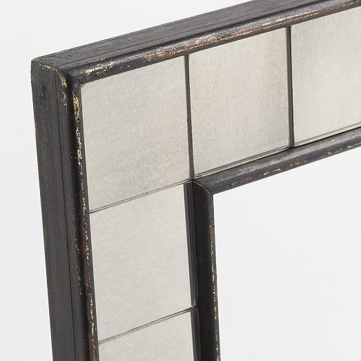 Tiled wall mirror