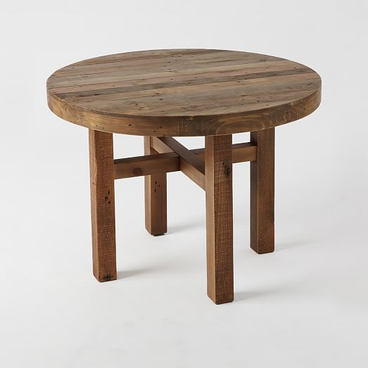 Emmerson reclaimed wood round dining table west elm for Coffee tables you can eat on