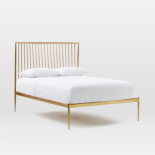 stella metal bed brass west elm