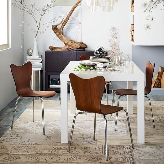 parsons dining table rectangle west elm. Black Bedroom Furniture Sets. Home Design Ideas