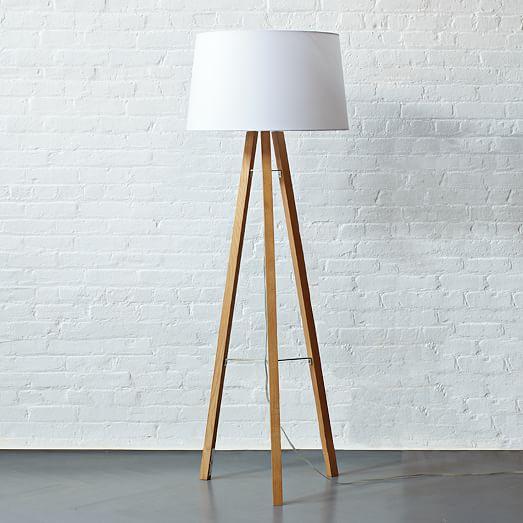 Tripod Wood Floor Lamp West Elm