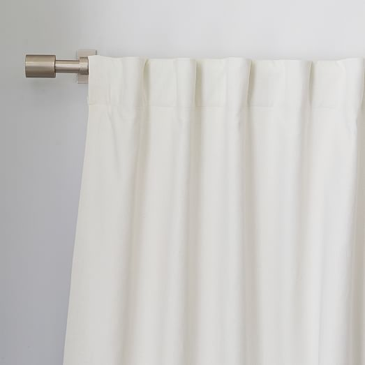White Curtains black out white curtains : Linen Cotton Curtain - Ivory | west elm