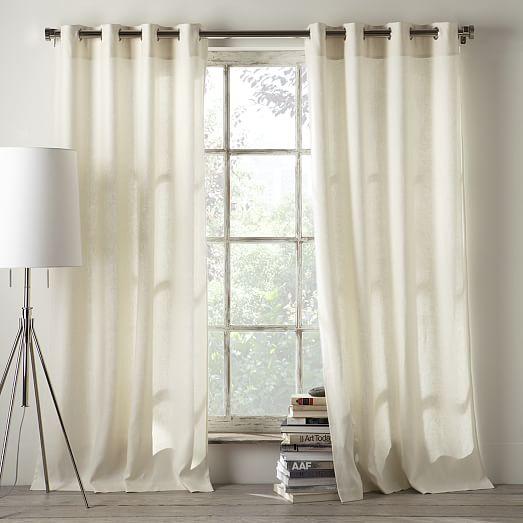 Curtains Ideas cotton curtains white : Linen Cotton Grommet Curtain - Ivory | west elm