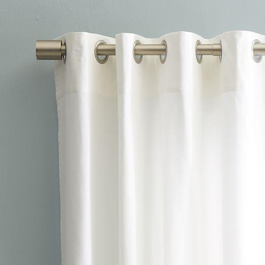 Cotton Canvas Grommet Curtain - White | west elm