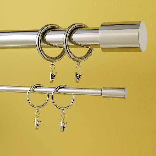 Round Metal Curtain Rings | west elm