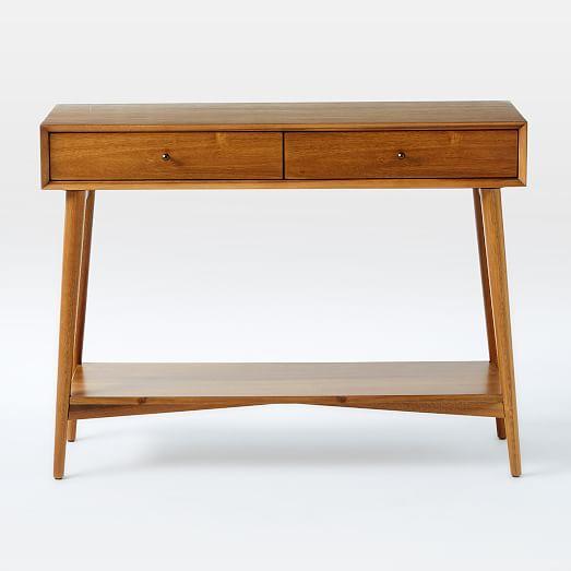 mid century console west elm. Black Bedroom Furniture Sets. Home Design Ideas