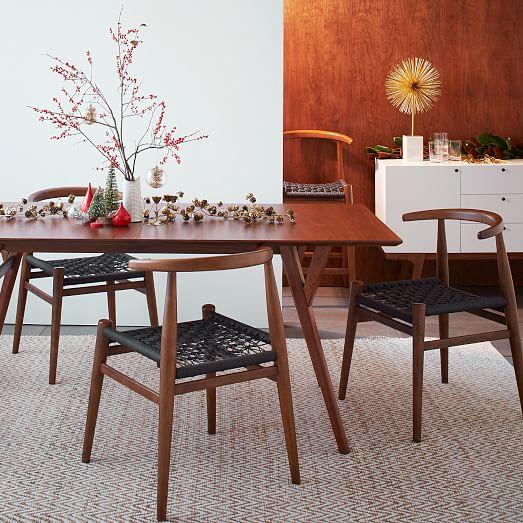 mid century expandable dining table west elm. Black Bedroom Furniture Sets. Home Design Ideas