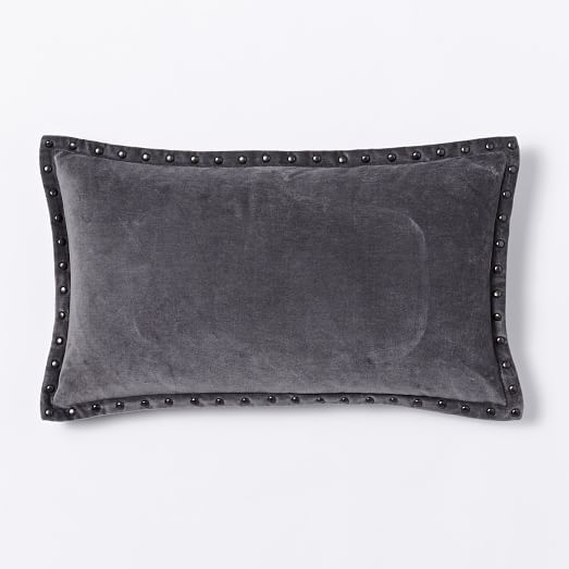 Studded Velvet Pillow Cover, 12