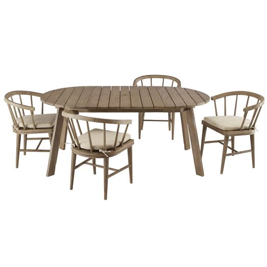 Dexter Dining Table + 4 Chairs