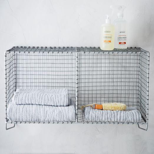 Wire Mesh Hanging Double Shelf