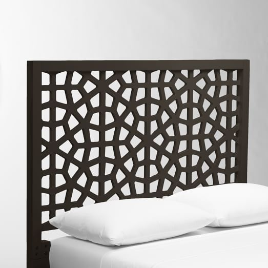 Morocco Headboard, King, Chocolate-Stained Veneer