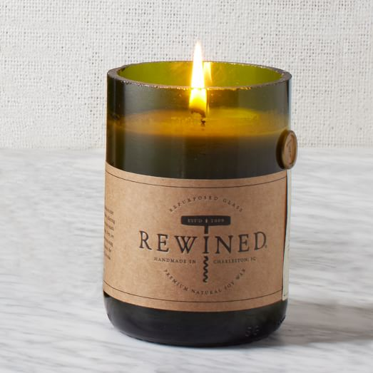 Rewined Candle, Soy Wax, Merlot