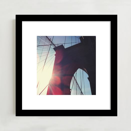 WE Print Collection, Brooklyn Bridge Sunshine