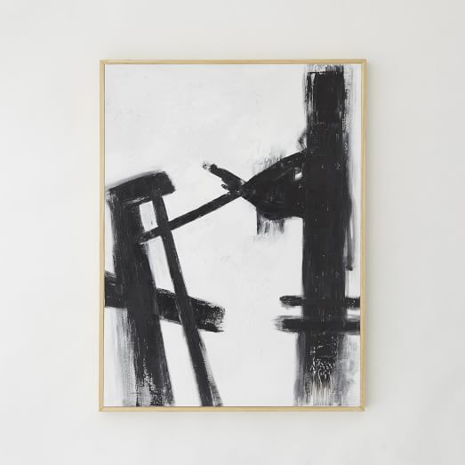 Abstract Black + White Painting, Small II
