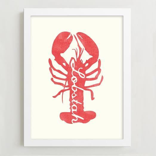 Framed Print, Lobstah
