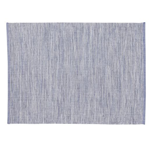Multicolor Ribbed Placemat, Set of 2, Blue