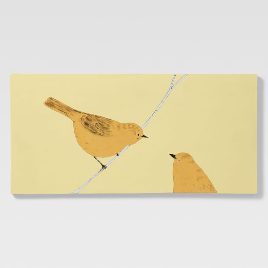 Gemma Orkin Tile, Large, 2 Birds