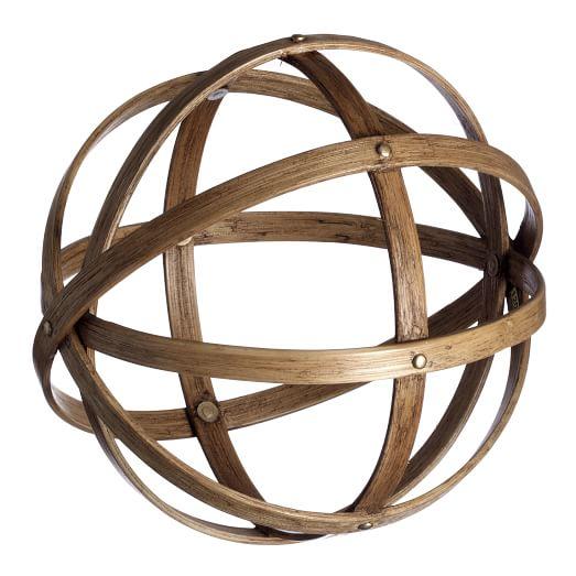 Veneer Sphere, Large, Natural