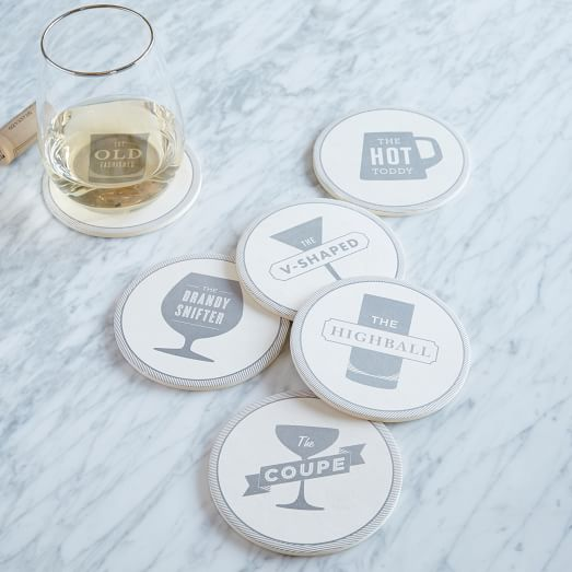 Happy Hour Coasters, Set of 6