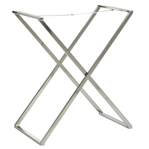 Butler Tray Stand, Polished-Nickel