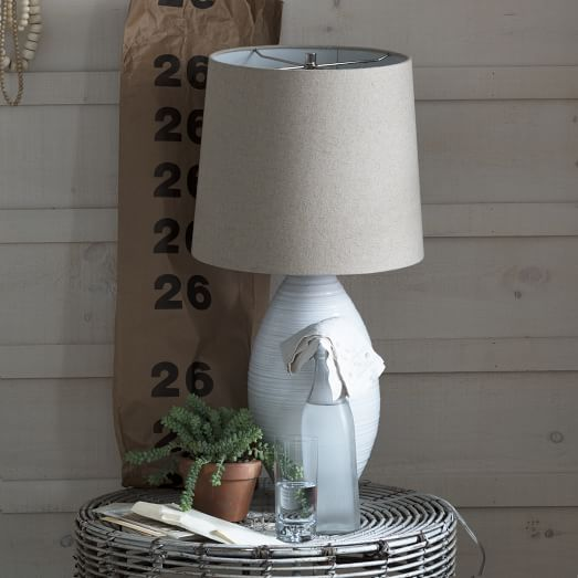 Channel Ceramic Table Lamp, Large, Non-CFL