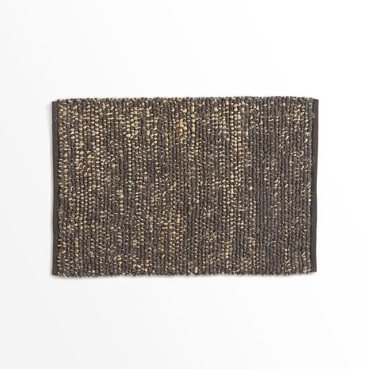 Mini Pebble Jute Wool Rug, 2'x3', Natural/Slate