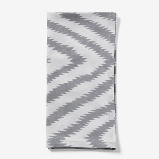 Safari Cotton Napkin, Dove Gray, Set of 4