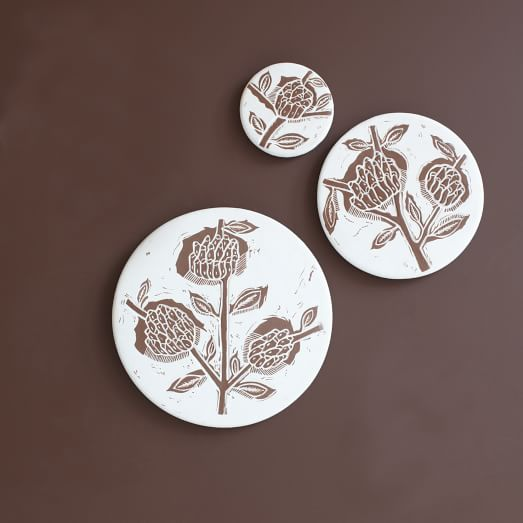 Ceramic Matters Wall Tile, Set of 3