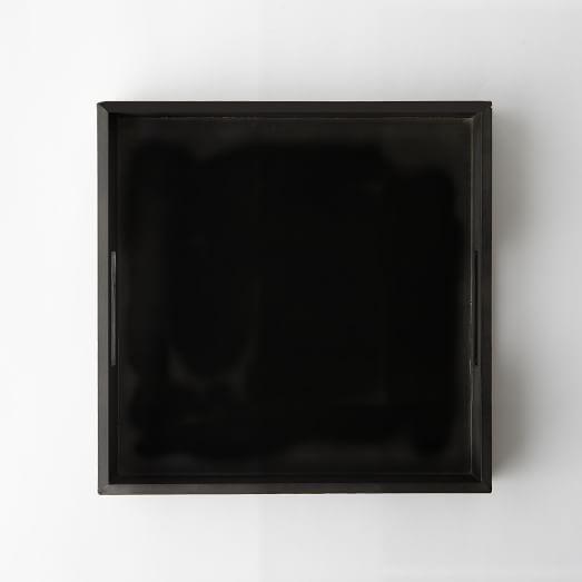 Square Lacquer Tray, Black