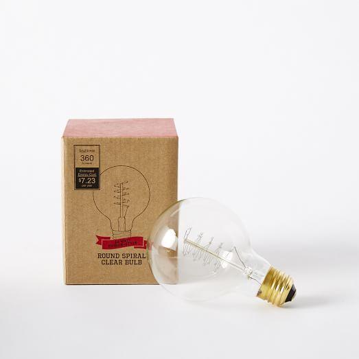 Spiral Bulb - Round, 60 Watt, Clear