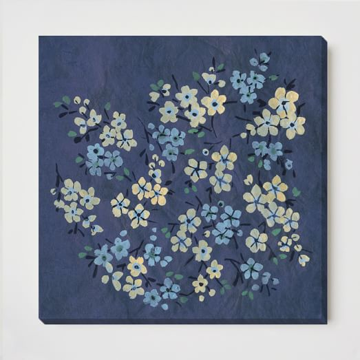 Canvas Print, Blue Blooms