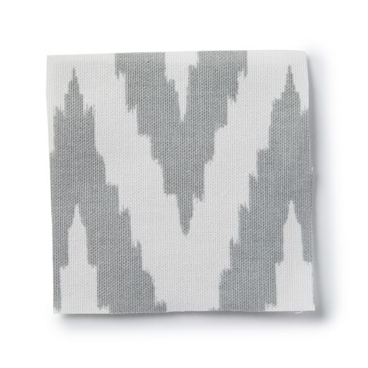 Upholstery Fabric by the Yard, Chevron, Platinum