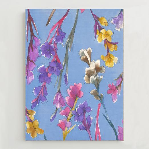 Birch Print, Irises I