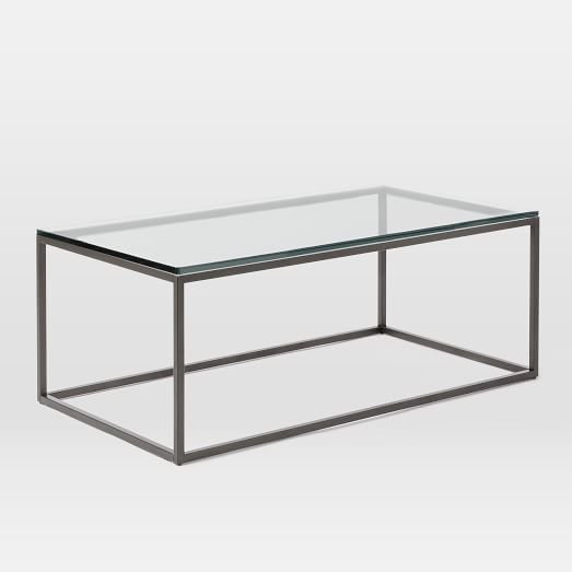 Box Frame Coffee Table, Glass