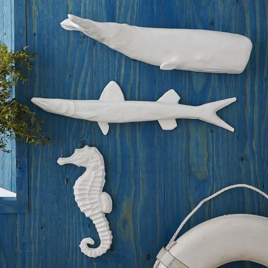 Papier-Mâché Wall Art, Seahorse