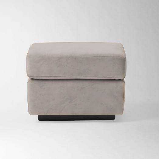 Graham Glider Ottoman, Performance Velvet, Dove Gray