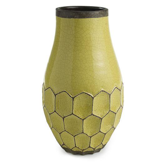 Hive Vase, Taper, Short, Peridot