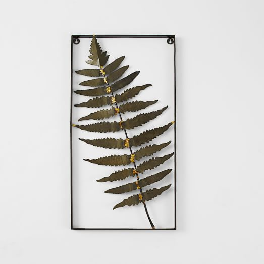 Metal Fern Wall Art, Feather