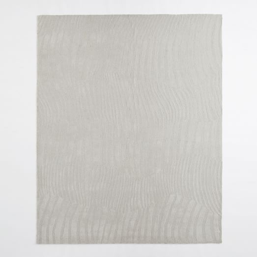 Ripple Stripe Wool Rug, 3'x5', Frost Grey